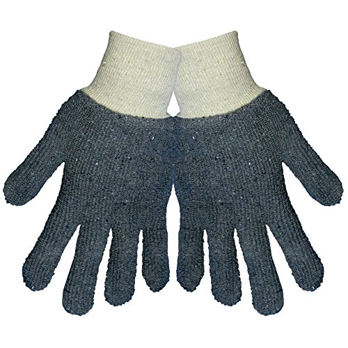 Global Glove TG1350 Heavyweight Terrycloth Glove with Knit Wrist Cuff, Work, Small, Gray (Case of (Heavyweight Terry Gloves)