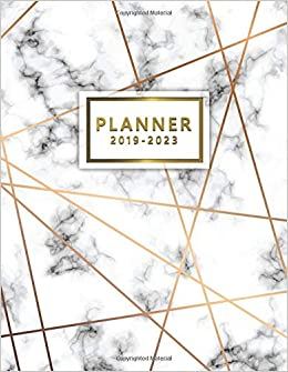 2019-2023 Planner: Five Year Planner Elegant Marble with 60 ...