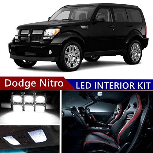 Sky Auto INC LED Premium Xenon White Light Interior Package Kit for Dodge Nitro 2007-2011 (10 pcs)