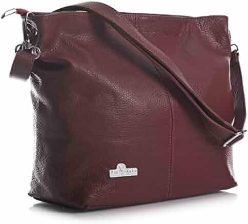 4e7476e4f LIATALIA Women's Medium Hobo Shoulder Bag Genuine 100% Italian Leather  Stylish & Elegant Design –