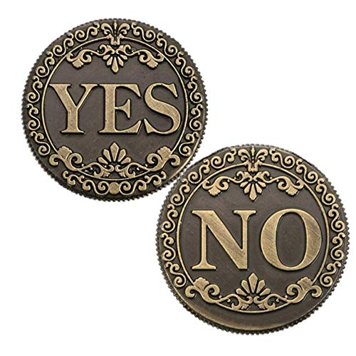 MarshLing Bronze Three-Dimensional Embossed YES or NO Decision Lucky Coin Collection Love Gold Coins Perfect Quality