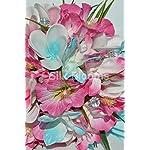 Tropical-Aqua-and-Fuchsia-Artificial-Frangipani-Plumeria-Dendrobium-Orchid-and-Hibiscus-Bridesmaid-Bouquet
