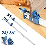 Agennix Store Clamp heavy duty f clamp t bar wood clamps for woodworking quick release wood clamps holder cramp grip hand tools 4pcs 24 inch