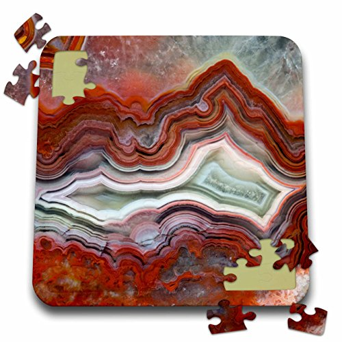 Danita Delimont - Abstract - Mexican Crazy Lace Agate - 10x10 Inch Puzzle -