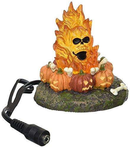 Department 56 Accessories for Villages Halloween Flaming Skull Bonefire Figurine -