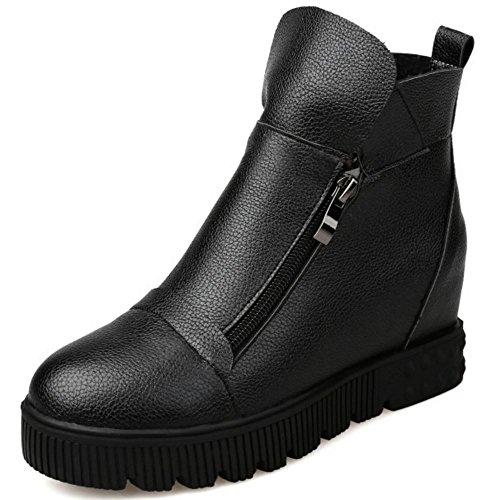 Hauteur Chaussures croissant femmes Razamaza compensées pour Bottes Modèle Noir P4qYw