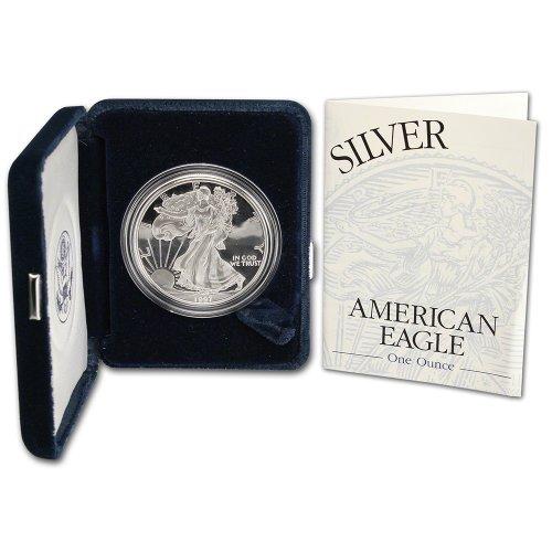 1997 P American Silver Eagle Proof  1 Ogp Us Mint