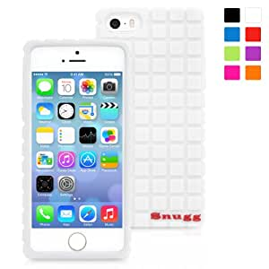 Snugg iPhone 5 / 5S Silicone Case in White - Non-Slip Material, Protective and Soft to Touch for the Apple iPhone 5 / 5S