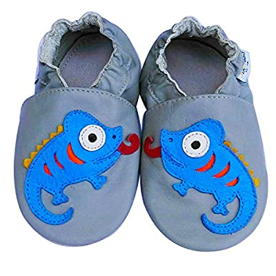 Jinwood Prewalk Baby Shoes Boy Girl Infant Children Kid Toddler Crib Boy First Walk Gift Chameleon Grey: Shoes