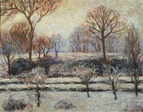 - Polyster Canvas ,the Cheap But Art Decorative Art Decorative Canvas Prints Of Oil Painting 'Blanche Hoschede Monet - Winter Landscape', 24x31 Inch / 61x78 Cm Is Best For Study Artwork And Home Artwork And Gifts
