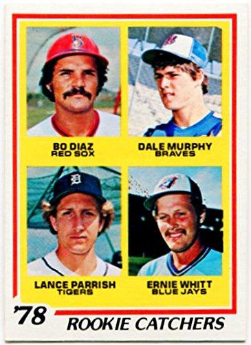 1978 Topps Rookie Catchers Card #708 Dale Murphy Atlanta Brave Lance Parrish Detroit Tigers Ernie Whitt Toronto Blue Jays Do Diaz Boston Red Sox (Blue Pitchers Jays Toronto)