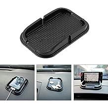 [Car Dashboard Holder] Cradle Dock Sticky Pad Mat [Black]