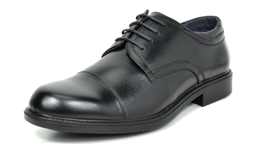 Bruno Marc Men's Downing-01 Black Leather Lined Dress Oxfords Shoes Size 10 M US