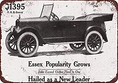 HTFDS 1919 Essex Automobile Vintage Look Reproduction Metal Tin Sign 12X18 Inches