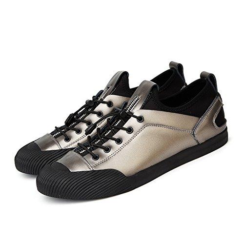 Respirant de Cuir Printemps Une Hommes Occasionnels Pistolet Automne en Chaussures air Noir Plein en Été Couleur pour Chaussures gfZAWw0EF