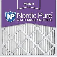 Nordic Pure 24x24x1M8-3 24x24x1 MERV 8 AC Furnace Filters Qty 3, 3 Piece
