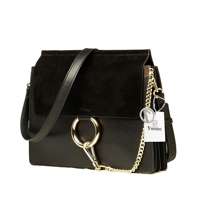 94aaad507500 Yoome Women Genuine Leather Crossbody Shoulder Purse Chain Messenger Bag  for Girls Split Fashion Clutch