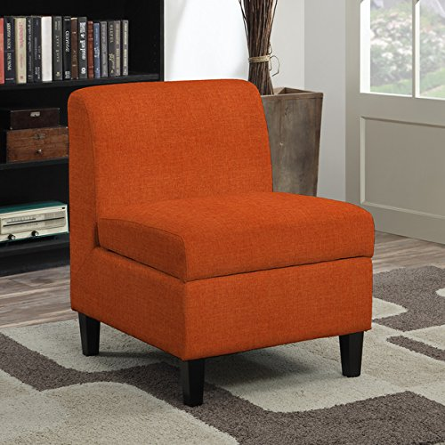 Armless Storage Chair - Chairs/ Accent & Storage Chairs Contemporary, Transitional Wrigley Orange Linen Armless Storage Chair 340SC-LIN30-195. 31 in High x 23 in Wide x 29 in Deep