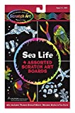 Melissa & Doug Scratch Art Activity Kit - Sea Life