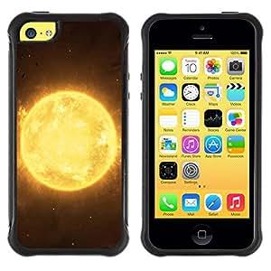 "Pulsar iFace Series Tpu silicona Carcasa Funda Case para Apple iPhone 5C , Sun Star Amarillo Espacio Universo Burning Planet"""
