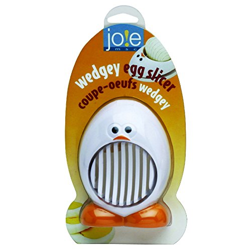 Plastic Egg Slicer - Joie Wedgey Egg Mushroom Slicer, Stainless Steel Blades, BPA free, FDA approved, 4.5-Inches x 3.25-Inches x 1.25-Inches