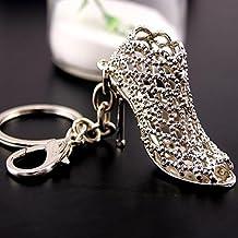 Wo-dreams Creative High-heeled Shoes Shaped Pendant Titanium Steel Keychain Birthday Gift Key Ring