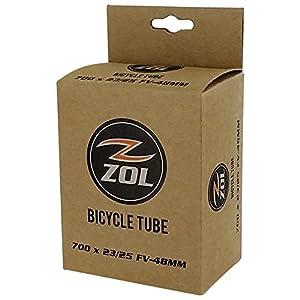 Zol Road Bicycle Bike Inner Tube 700x23/25C Presta/French 48mm Valve
