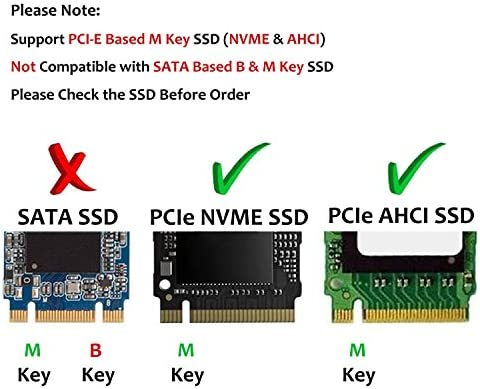 M.2 to PCIe Adapter NVME M2 SSD to PCI-e 3.0 x4 Gen3 Host Expansion Card