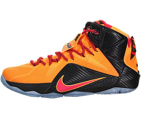 NIKE MENS LEBRON XII SNEAKER Orange - Footwear/Sneakers 10.5