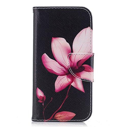 Trumpshop Smartphone Carcasa Funda Protección para Samsung Galaxy A3 (2017) SM-A320 [Linda Búho] PU Cuero Caja Protector Billetera con Cierre magnético Choque Absorción Lirio