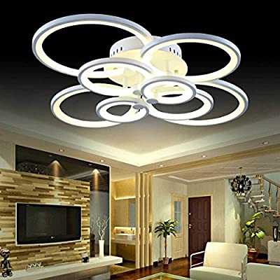 LightInTheBox Led 110W Flush Mount /Remote Controller/ 8Lights/ Modern/Contemporary Acrylic Ceiling Light Lamp Fixtures Chandeliers