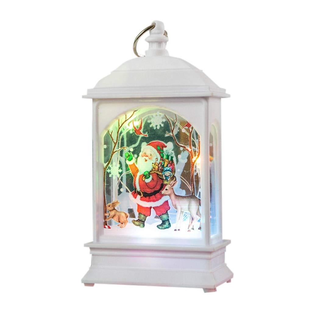 Bougie Lanterne de No/ël Lanterne d/écorative avec LED Bougie Int/érieur Ext/érieur Jardin Patio Table f/ête de Vacances D/écor Suspendu Lanterne Lumi/ère ADOSSAC LED Lanterne de d/écoration de No/ël