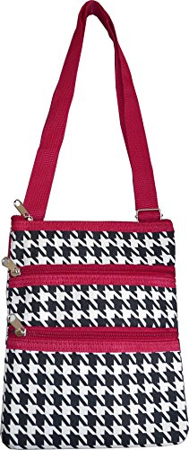 Bag Fashion Houndstooth Print Red Women's Small body Hipster Cross YFUq6C