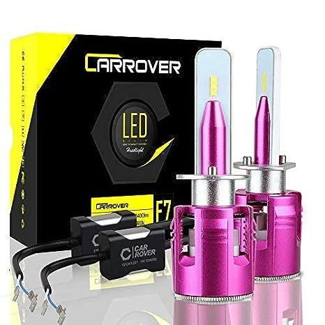 CAR ROVER Bombillas H1 LED 10800 lm faros delanteros o antiniebla para coche, kit de