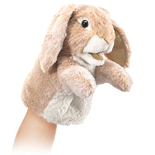 Folkmanis Little Lop Rabbit Hand Puppet (Stage Rabbit Puppet)
