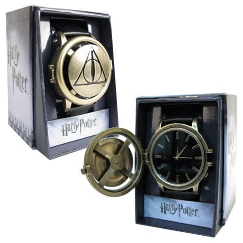 Accutime Harry Potter Deathly Hollows Logo Strap Spinner - Potter Band Harry Watch