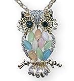Unique Amazing fancy owl pendant necklace