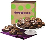 Fairytale Brownies Magic Morsel 24 Gourmet Food Gift Basket Chocolate Box - 1.5 Inch x 1.5 Inch Bite-Size Brownies - 24 Pieces