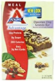 Atkins Advantage Bars, Chocolate Chip Granola, 1.7-Ounce Bars (Pack of 12), Health Care Stuffs