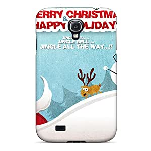 Tpu Case For Galaxy S4 With Merry Christmas Happy Holidays