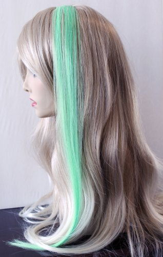 "22"" Clip-in Straight Hair Extension (Mint Green) Plus Bonus Ponytail Holder"