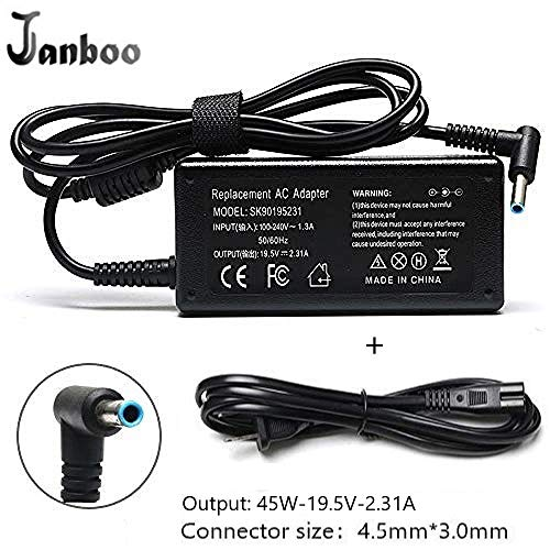 45W 19.5V 2.31A Ac Adapter Laptop Charger for HP Notebook 15 15-f009wm 15-ba009dx 15-f004wm...