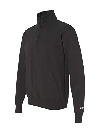 0ae9a54f023 Champion Mens Eco Fleece 1 4 Zip Pullover-S400-Small-Black at Amazon Men s  Clothing store