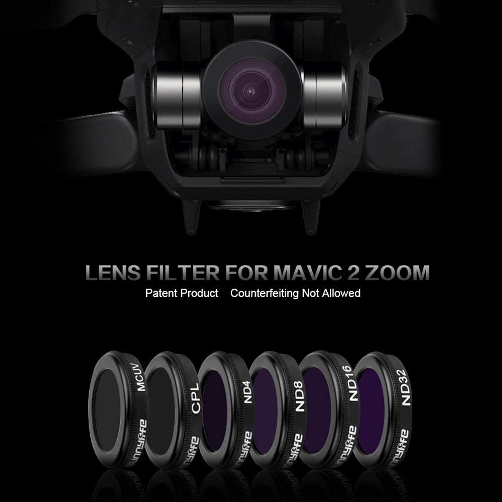 Belloc 2019 For DJI Mavic 2 Zoom Drone ND4 ND8 ND16 ND32 CPL UV Waterproof Camera Lens Filte