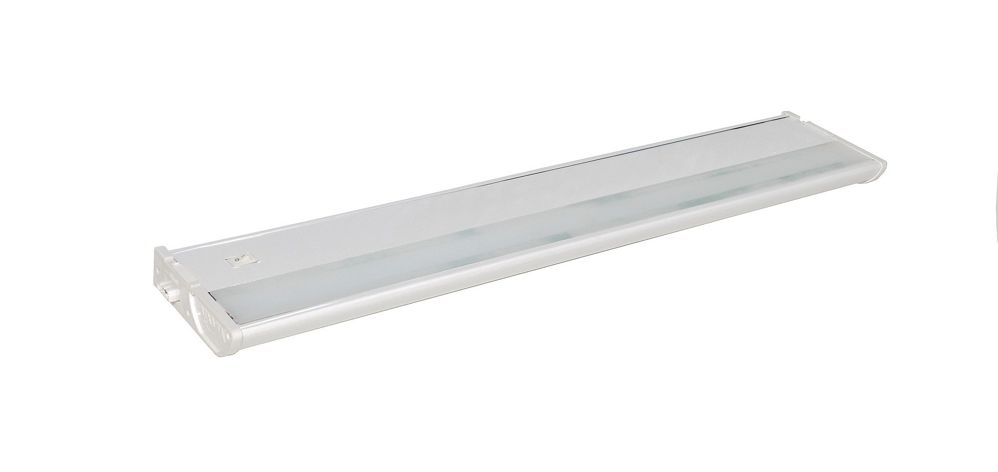 Maxim 89974WT CounterMax MX-L120DL 21'' 3000K LED Under Cabinet, White Finish, Clear Glass, PCB LED Bulb , 60W Max., Dry Safety Rating, Standard Dimmable, Shade Material, Rated Lumens