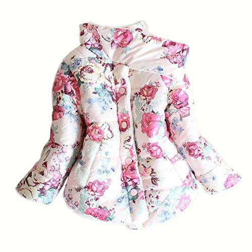 IINFINE Latest Baby Toddler Girls Boys Down Jacket Coat Winter Warm Children Clothes(Pink-3T)