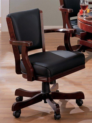 Cherry Swivel Game Chair - Coaster (Cherry Upholstered Game)