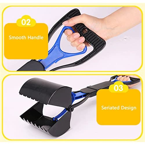 new Alkem Extra-Long Handle Waste Poop Pick-Up Clip Scooper Tool for Pets Dogs Cats