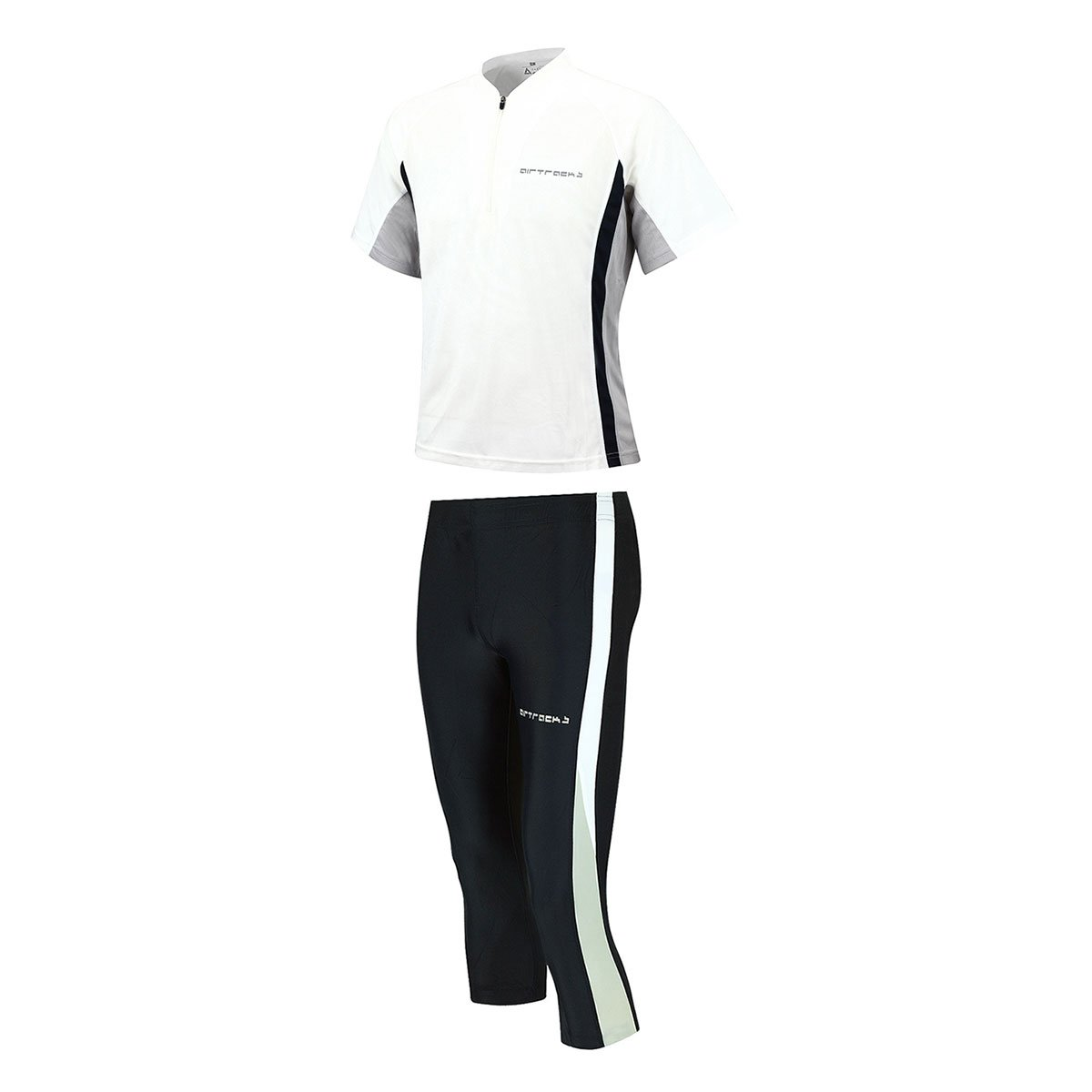 Airtracks FUNKTIONS-LAUFSET - TIGHT-3/4-LANG + T-Shirt Kurzarm