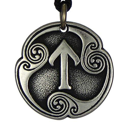 DD Tem 1 Pc Pewter Pendant Jewelry Tir Rune of Victory Norse Talisman Pagan Heathen -